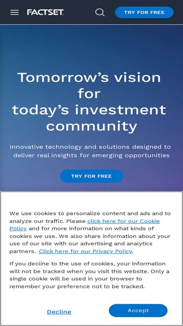 Factset com Analytics - Market Share Stats & Traffic Ranking