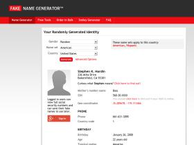 Fakenamegenerator com Analytics - Market Share Stats