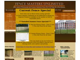 fencemastersunlimited.com