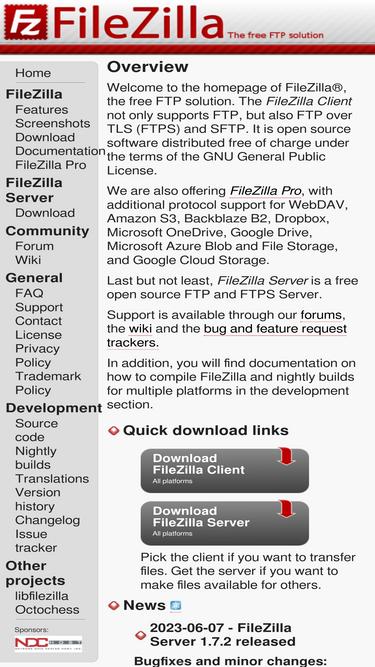 Filezilla-project org Analytics - Market Share Stats