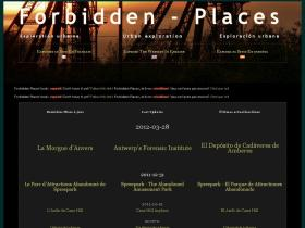 forbidden-places.be