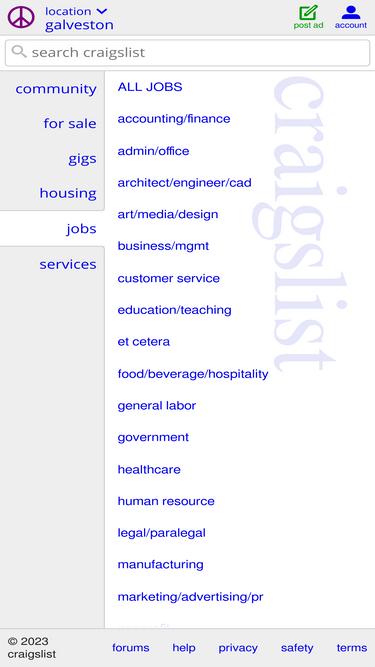 Galveston Craigslist Org Analytics Market Share Data Ranking Similarweb Craigslist has listings for jobs in the galveston, tx area. similarweb