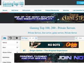 Gamingtop100 net Analytics - Market Share Stats & Traffic Ranking