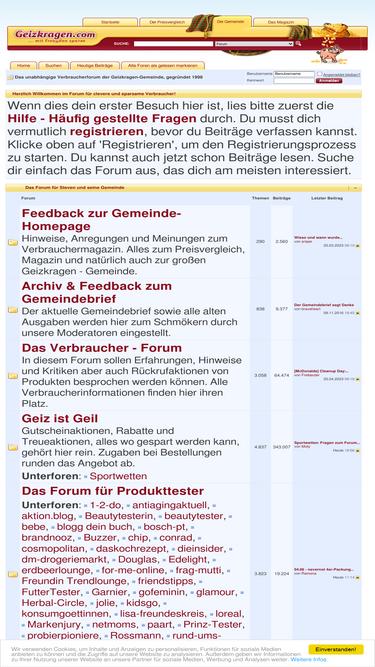 Geizkragen forum