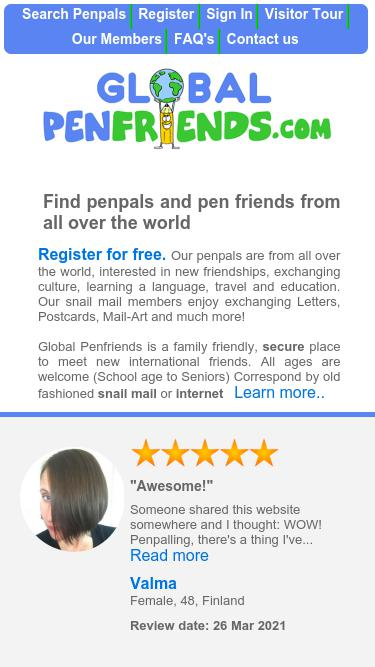 Globalpenfriends com Analytics - Market Share Stats & Traffic Ranking