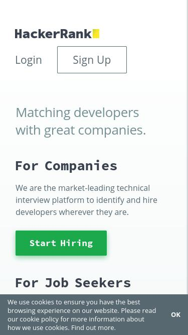 Hackerrank com Analytics - Market Share Stats & Traffic Ranking