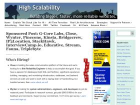 Highscalability com Analytics - Market Share Stats & Traffic