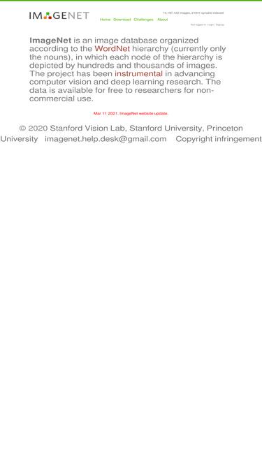 Image-net org Analytics - Market Share Stats & Traffic Ranking