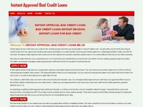 instantapprovalbadcreditloans.me.uk