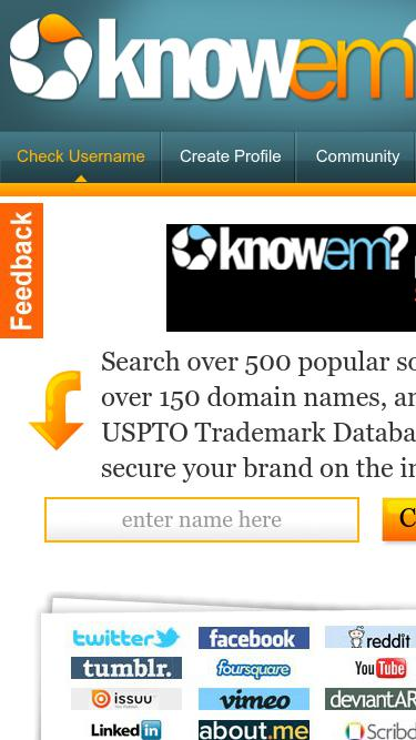 Knowem com Analytics - Market Share Stats & Traffic Ranking