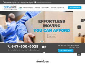 mapleleafmovers.com
