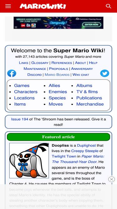 Mariowiki com Analytics - Market Share Stats & Traffic Ranking
