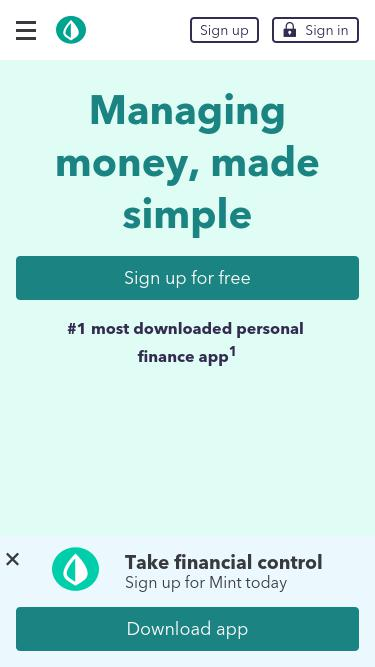 Mint com Analytics - Market Share Stats & Traffic Ranking