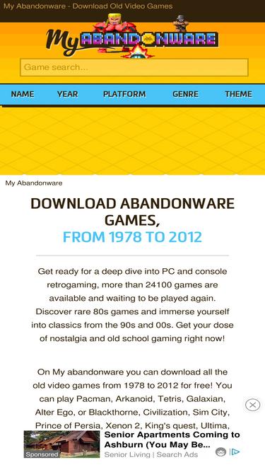Best Abandonware Games