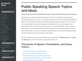 fun informative speech topics