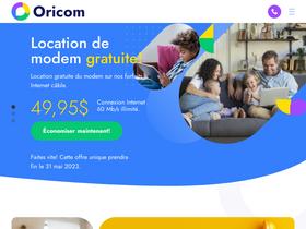 Oricom ca Analytics - Market Share Stats & Traffic Ranking