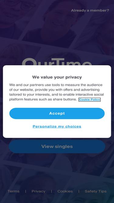 ourtime com member login