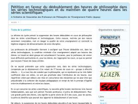 petitiondedoublementphilo.net