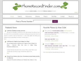 phonerecordfinder.com
