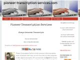 pioneer-transcription-services.com