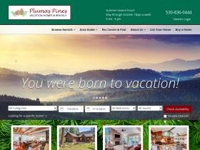 plumaspinesvacationhomesandrentals.com