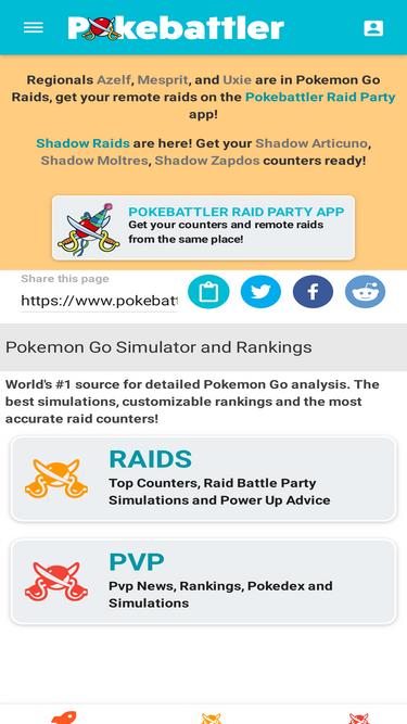 Pokebattler com Analytics - Market Share Stats & Traffic Ranking