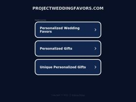 projectweddingfavors.com