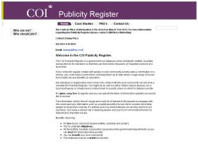 publicityregister.coi.gov.uk