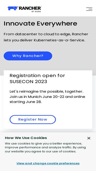 Rancher com Analytics - Market Share Stats & Traffic Ranking