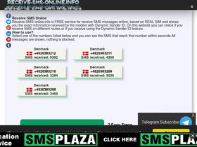 Receive-sms-online info Analytics - Market Share Stats & Traffic Ranking