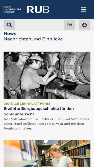 ruhr uni bochumde - Uni Bochum Bewerbung