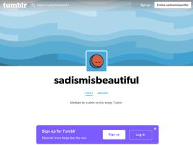 sadismisbeautiful.tumblr.com Analytics Stats