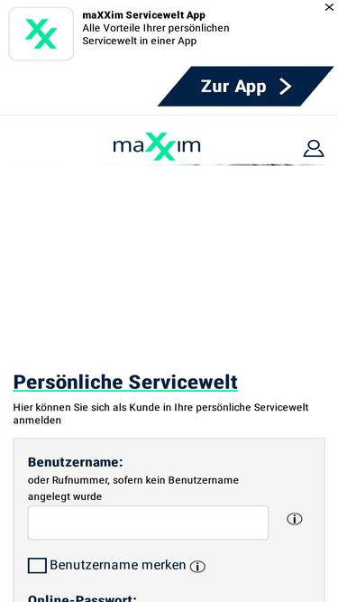 Maxxim login