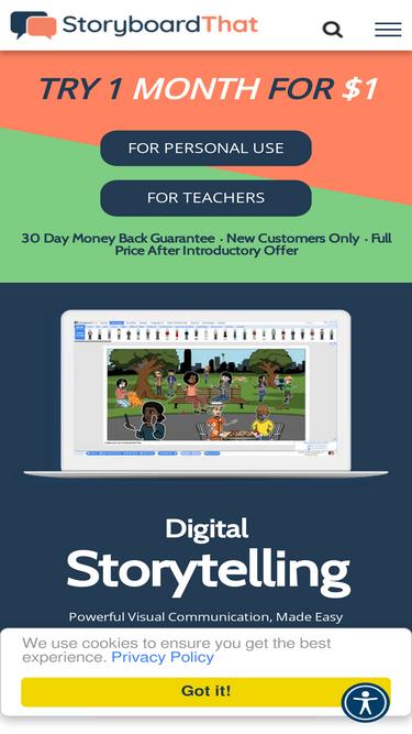 Storyboardthat com Analytics - Market Share Stats & Traffic