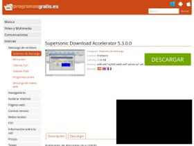 supersonic-download-accelerator.programasgratis.es