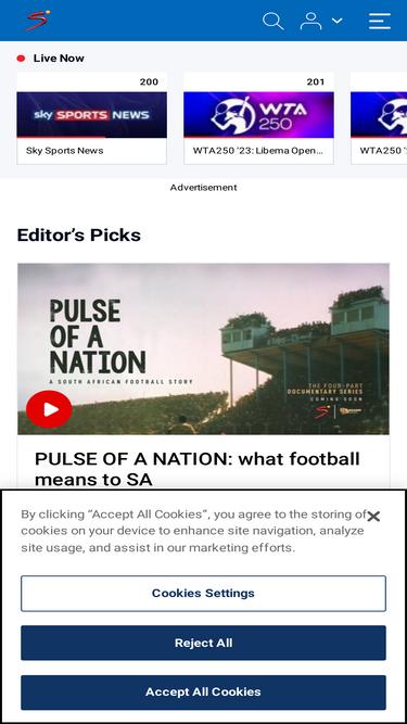 Supersport com Analytics - Market Share Stats & Traffic Ranking
