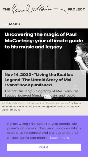 The-paulmccartney-project com Analytics - Market Share Stats