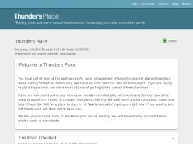Thundersplace org Analytics - Market Share Stats & Traffic