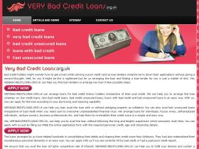 verybadcreditloans.org.uk