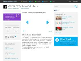 vicon-cctv-lens-calculator.software.informer.com