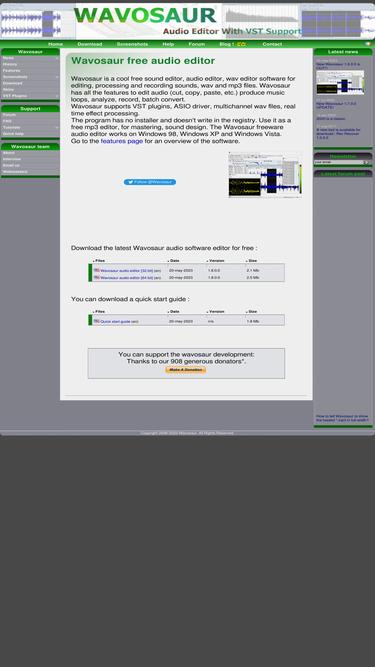 Wavosaur com Analytics - Market Share Stats & Traffic Ranking