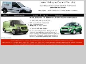 westyorkshirecarandvanhire.co.uk
