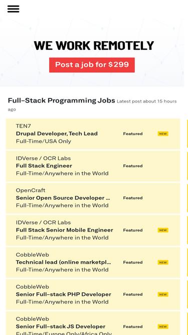 Weworkremotely com Analytics - Market Share Stats & Traffic