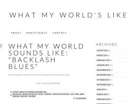 whatmyworldslike.com