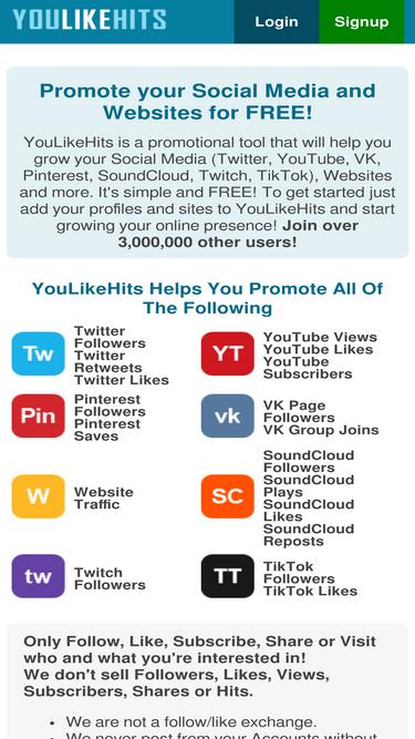 Youlikehits com Analytics - Market Share Stats & Traffic Ranking