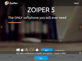 Zoiper com Analytics - Market Share Stats & Traffic Ranking