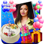 Birthday Greeting Cards Maker Photo Frames Cakes